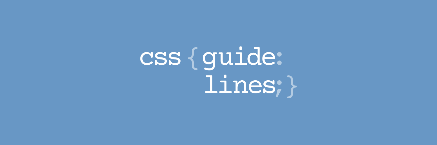 CSS Guidelines – High-level advice and guidelines for writing sane, manageable, scalable CSS